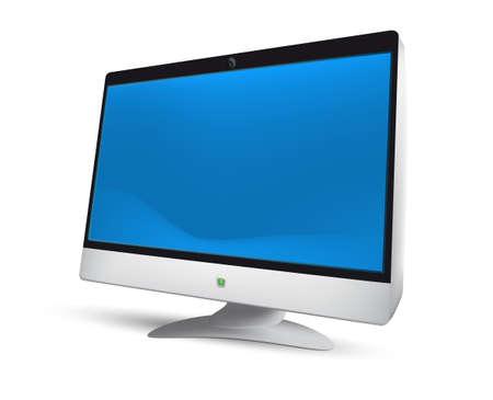 Modern LCD monitor.  Illustration. EPS8. Mesh.