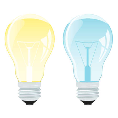 Realistic vector illustration of a light bulb Illustration