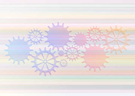 Mechanical Vector Background with Gears and Cogs. Illustration