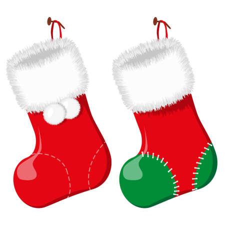 Christmas sock. Vector illustration. Illustration