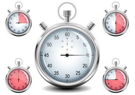 Vector Chrome Stopwatch. Stock Photo - 8494384