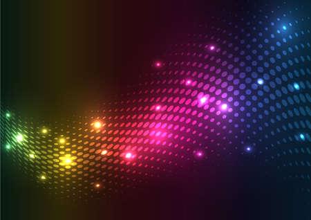 Abstract halftone lights.