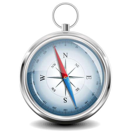 brujula: Compass con windrose.  Vectores
