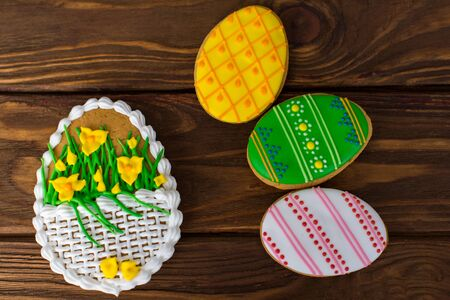 small sword: Big Easter cookies with icing sword lily and three small cookies