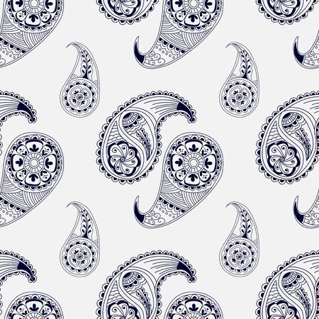 wrapper: Seamless pattern henna style. Wallpaper, textile, cover, wrapper.