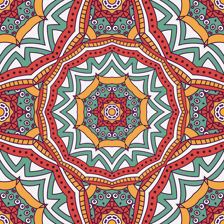 turkish ethnicity: Seamless  vector  background with mandala.  Islam, Arabic, Indian, ottoman style. Background, wallpaper, textile.
