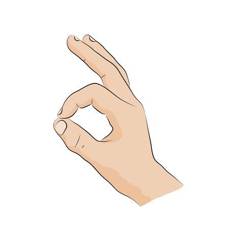 handsign: Hand-sign language. Ok.sign