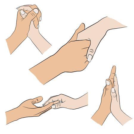 Ensemble de l'homme et la femme la main
