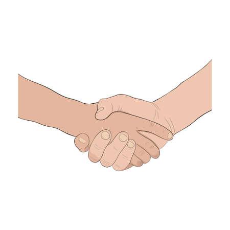 handsign: Hand-sign language. Handshake icon.