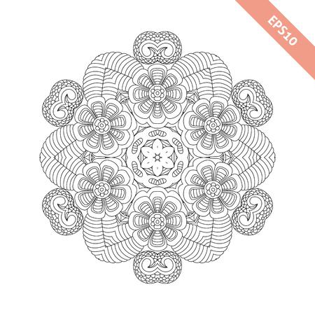 Ornamento Redondo Abstracto. Mandala. Fondo Abstracto. Diseño De ...