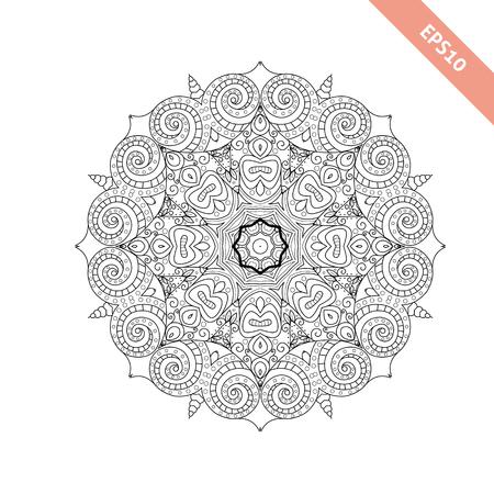 Ornamento Abstracto. Mandala. Fondo. Diseño De Página De Libro Para ...