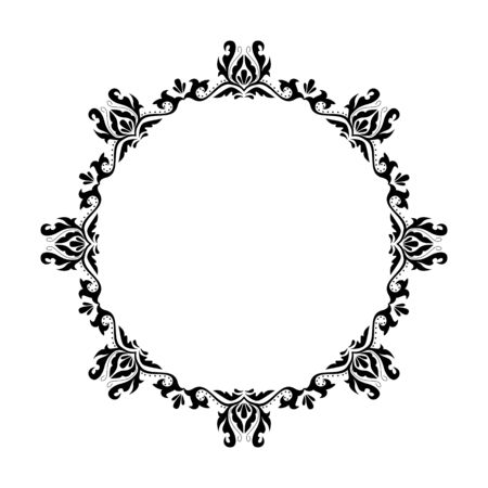 Vintage round frame. Decorative romantic frame for your design for any holiday