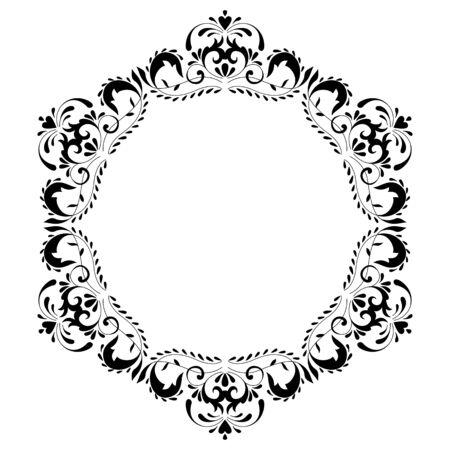 Vintage ronde frame. Decoratieve romantische frame voor uw ontwerp voor elke vakantie
