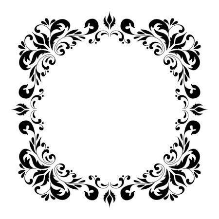 Decorative vierkant frame vintage stijl voor groet, uitnodiging, aankondiging