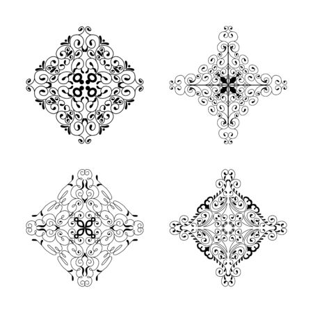 Decorative element collection vintage style for your design