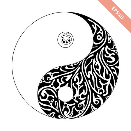 Ornate symbol yin yang
