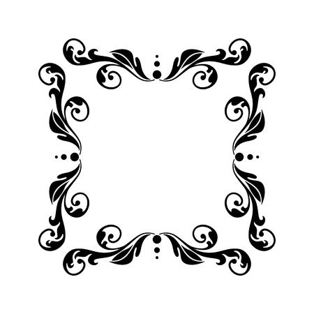 Estilo vintage floral marco vacío. Se puede utilizar para saludos, mensajes, anuncios y otros diseños.