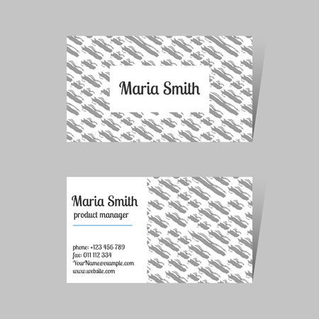 Modern business card design with abstract grunge texture. Branding and identity design template. Stock Vector - 124122972