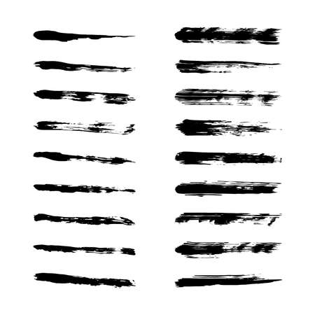 Collection black dirty design element. Grunge brush stroke, paint artistic set. Grunge texture collection. Art brushes included in  file
