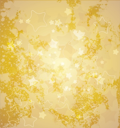 Abstract gold star background  Vector illustration   Vector