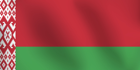 Flag of Belarus - Vector Illustration