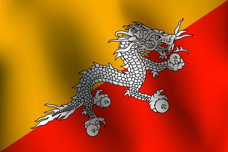 Flag of Bhutan - Vector Illustration Illustration