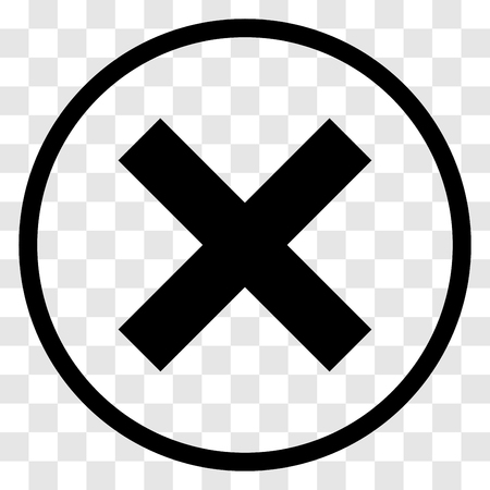 refuse: X-cross rounded icon - vector iconic design Illustration