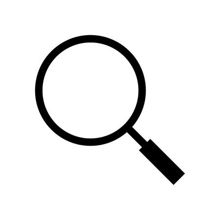 inspect: Search icon, iconic symbol on white background. Vector Iconic Design.