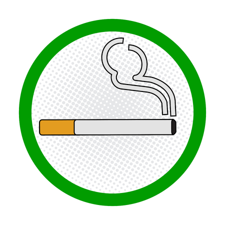 designated: Smoking Area symbole, smoking place area sign, on White Background - Vecter Sign Design