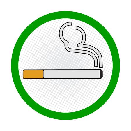 Smoking Area symbole, smoking place area sign, on White Background - Vecter Sign Design