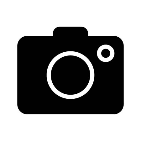 capturing: Camera icon, iconic symbol on transparency grid.  Vector Iconic Design.
