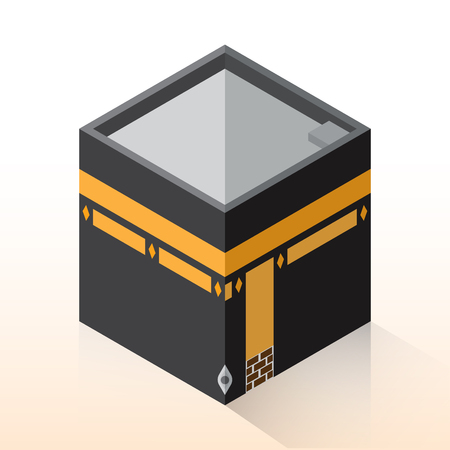 Flat 3d Isometric Kaaba, Mecca, Hajj concept isometric for graphic template - 3D vector illustration.