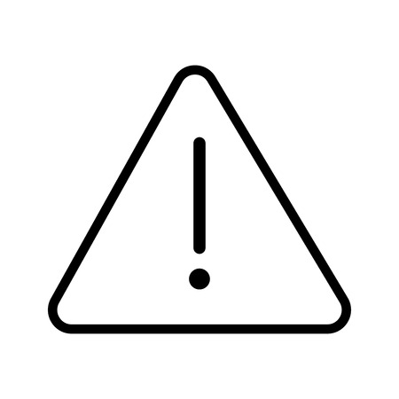 Vector of Danger icon in Triangle line, iconic symbol on white background.  Vector Iconic Design.