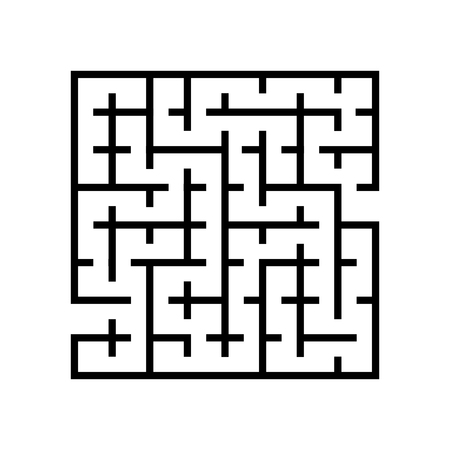 Abstract maze vector. Labyrinths in shape of square isolated on white background - Vector iconic Illustration. Illustration