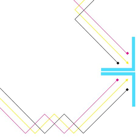 Vector Abstract Background of lines with CMYK color -Vector Illustration Illusztráció