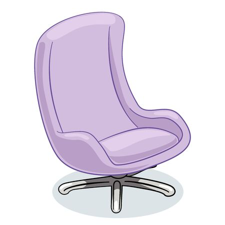 Office chair or Armchair isolate on white background. Furniture for interior in flat icon design. Vector Illustration.