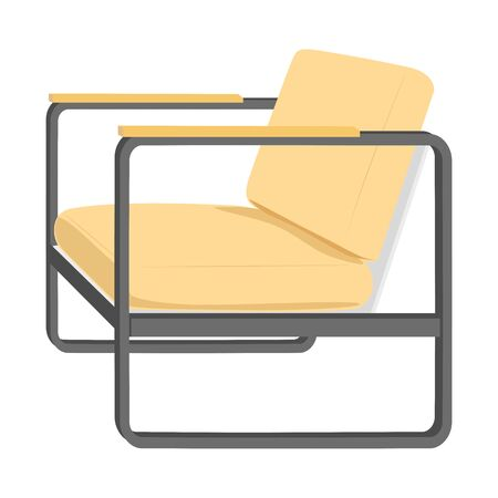 Armchair or Armchair isolate on white background. Furniture for interior in flat icon design. Vector Illustration.