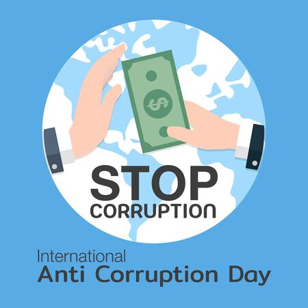 International Anti-Corruption Day for banner or poster - vector Illustration