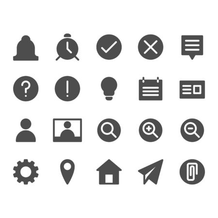 Basic business, internet web interface filled icon style for website and app. Iconic Vector Illustration.