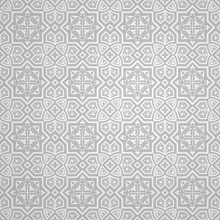 Islamic ornament vector, Arabic geometric pattern background, 3d ornamental shape, Texture Arabian traditional motif - Abstract vector background
