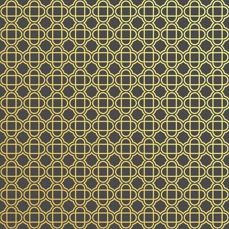 Islamic ornament vector, traditional Arabic art, Islamic geometric circular ornamental. For fabric, textile, cover wrapping paper- Abstract vector background. Çizim
