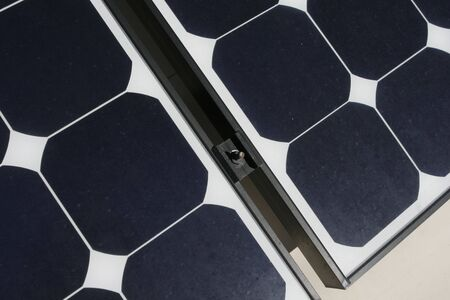close up view of solar panels