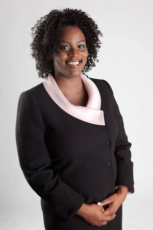 Smiling and happy african american business woman  photo