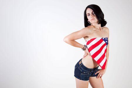 Patriotic flirt photo