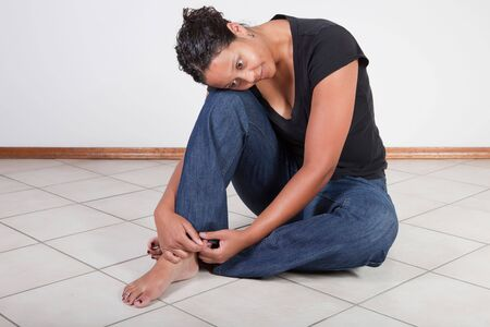 Young black woman relaxing and thinking Stock Photo - 7587889