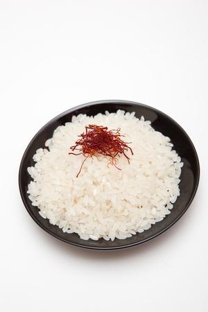 jasmine rice: azafr�n en el arroz jazm�n Foto de archivo
