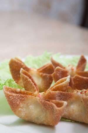 Fried crab rangoons