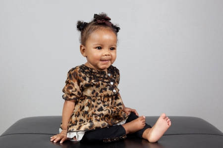 Portrait of beautiful 6 month old African American Baby Stock Photo - 14334538