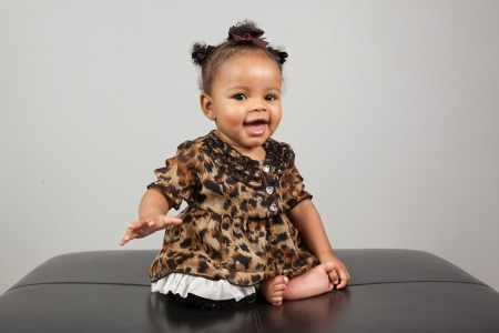 Portrait of beautiful 6 month old African American Baby Stock Photo - 14334545