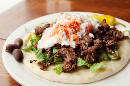 Flavorful Lamb Gyro on a Pita photo